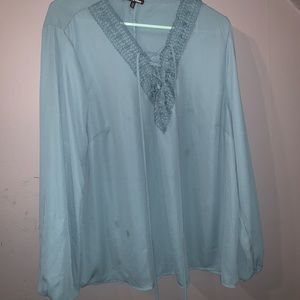 Charlotte Russe lace up front top
